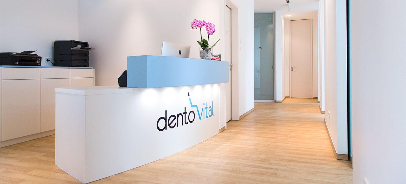 Rezeption dentovital Zahnarztpraxis Witten Annen